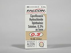 Ciprofloxacin hcl ophthalmic solution side effects